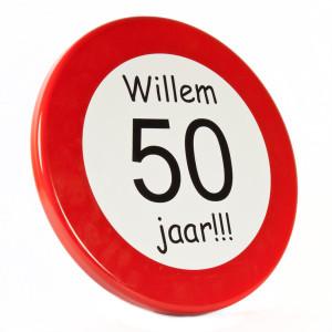 Populair Verkeersbord kado - 65jaarkado.nl &HO25