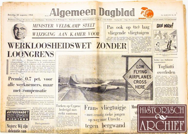 65 jaar kado Krant van uw geboortedag kado   65jaarkado.nl 65 jaar kado